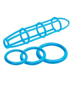Neon Luv Touch Neon Silicone Cage & Love Ring Set