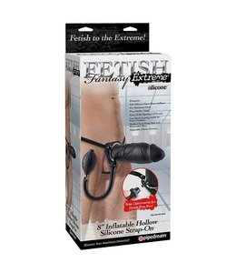 "Fetish Fantasy Elite Fetish Fantasy Elite 8"" Inflatable Hollow Strap-On"