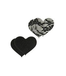 Peekaboos Satin & Lace Heart Pasties