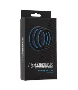 OptiMALE Silicone 3 C-Ring Set - Thin