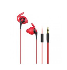 iLuv iLuv | FitActive Run In-Ear Earbuds with Mic | Red/Black