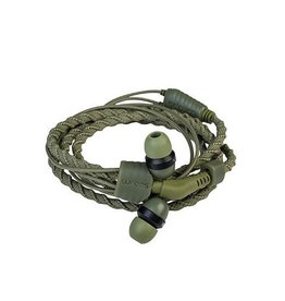 Wraps Wraps Fabric Wrap In-Ear Headphone w/Mic Camo Green