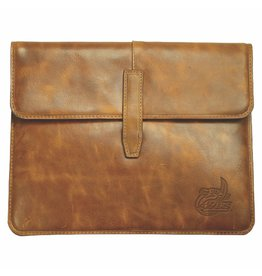 Carolina Sewn UNC Charlotte Tan Leather Tablet Case Official Licensed Collegiate Product