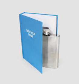 SUCK UK SUCK UK SELF HELP BOOK FLASK