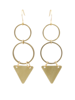 SUNDAY GIRL BERMUDA GEO DANGLE EARRINGS - ER-231