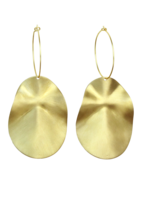 SUNDAY GIRL BIGGIE CHIP BRASS  EARRINGS - ER-202