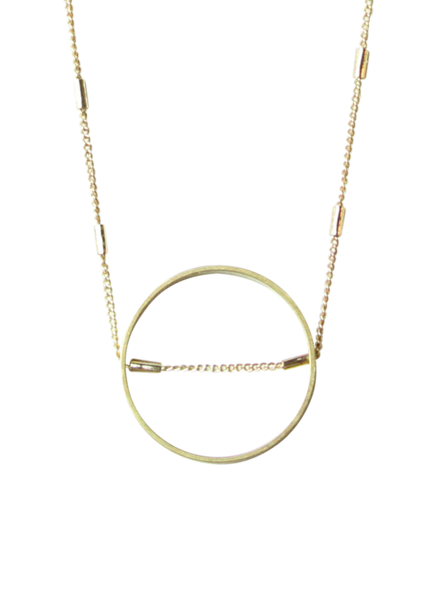 SUNDAY GIRL CIRCLE INTERSECTED NECKLACE - NK-136
