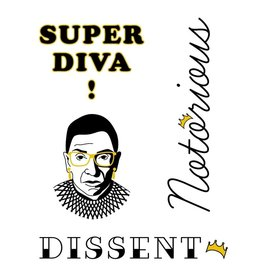 FCTRY RBG DISSENT TEMP TATTOO KIT