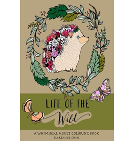 KAREN SUE STUDIOS LIFE OF THE WILD COLORING BOOK