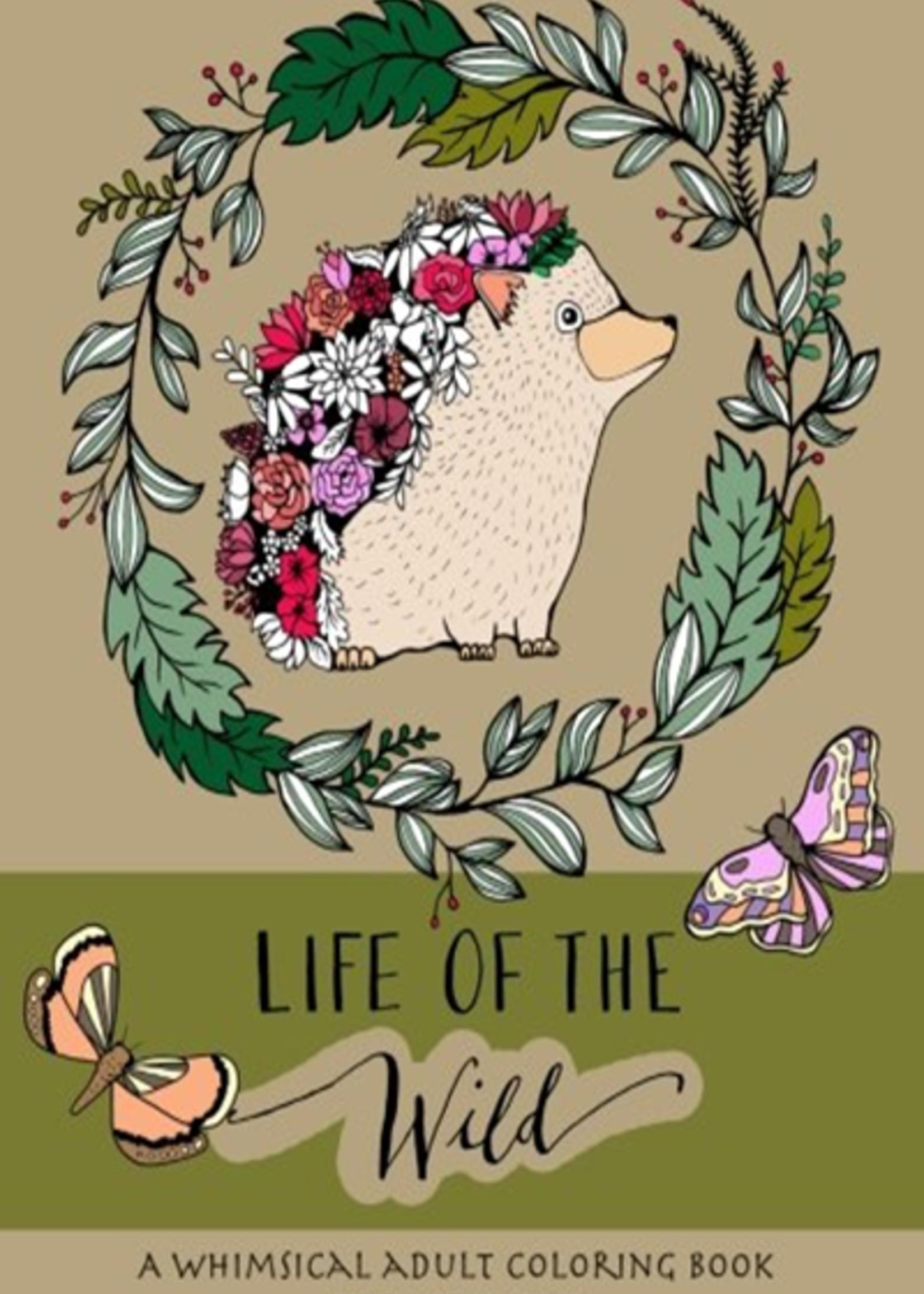 KAREN SUE STUDIOS LIFE OF THE WILD COLORING BOOK
