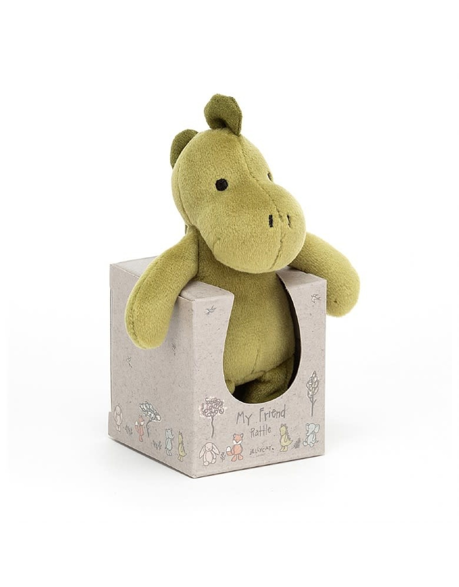JELLYCAT JELLYCAT MY FRIEND DINO RATTLE