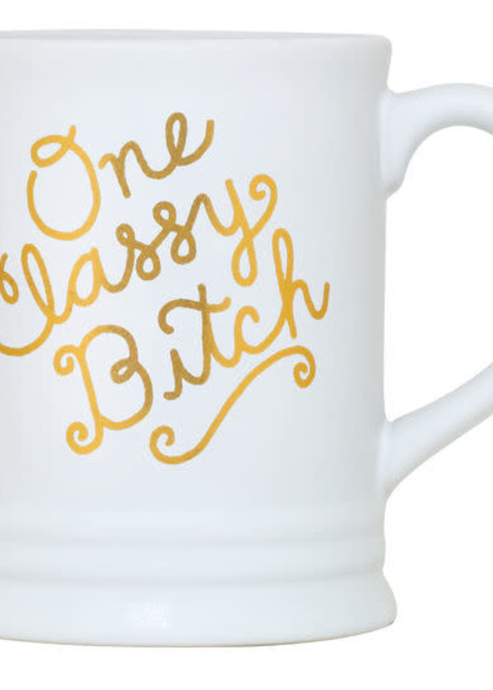 ABOUT FACE ABOUT FACE ONE CLASSY BITCH MUG