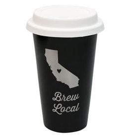 ABOUT FACE ABOUT FACE CALIFORNIA BREW LOCAL TRAVEL MUG