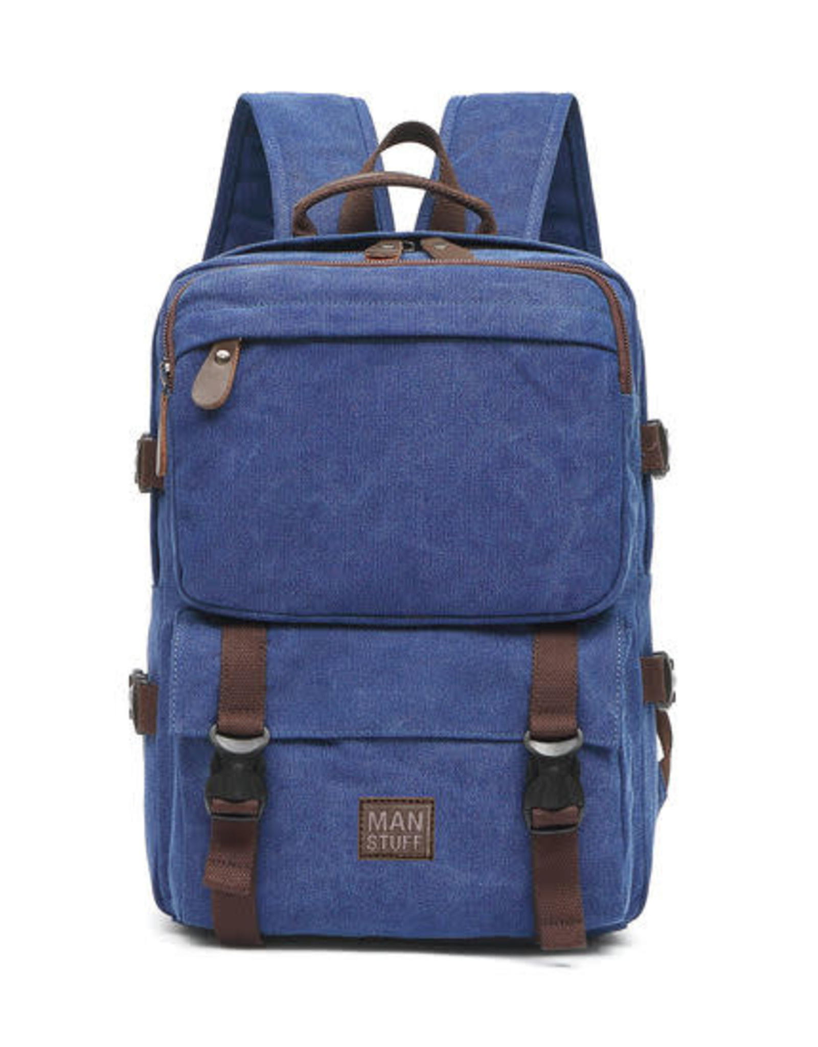 ABOUT FACE ABOUT FACE DARK BLUE CANVAS BACKPACK