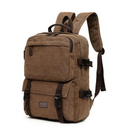 ABOUT FACE ABOUT FACE CHESTNUT CANVAS BACKPACK