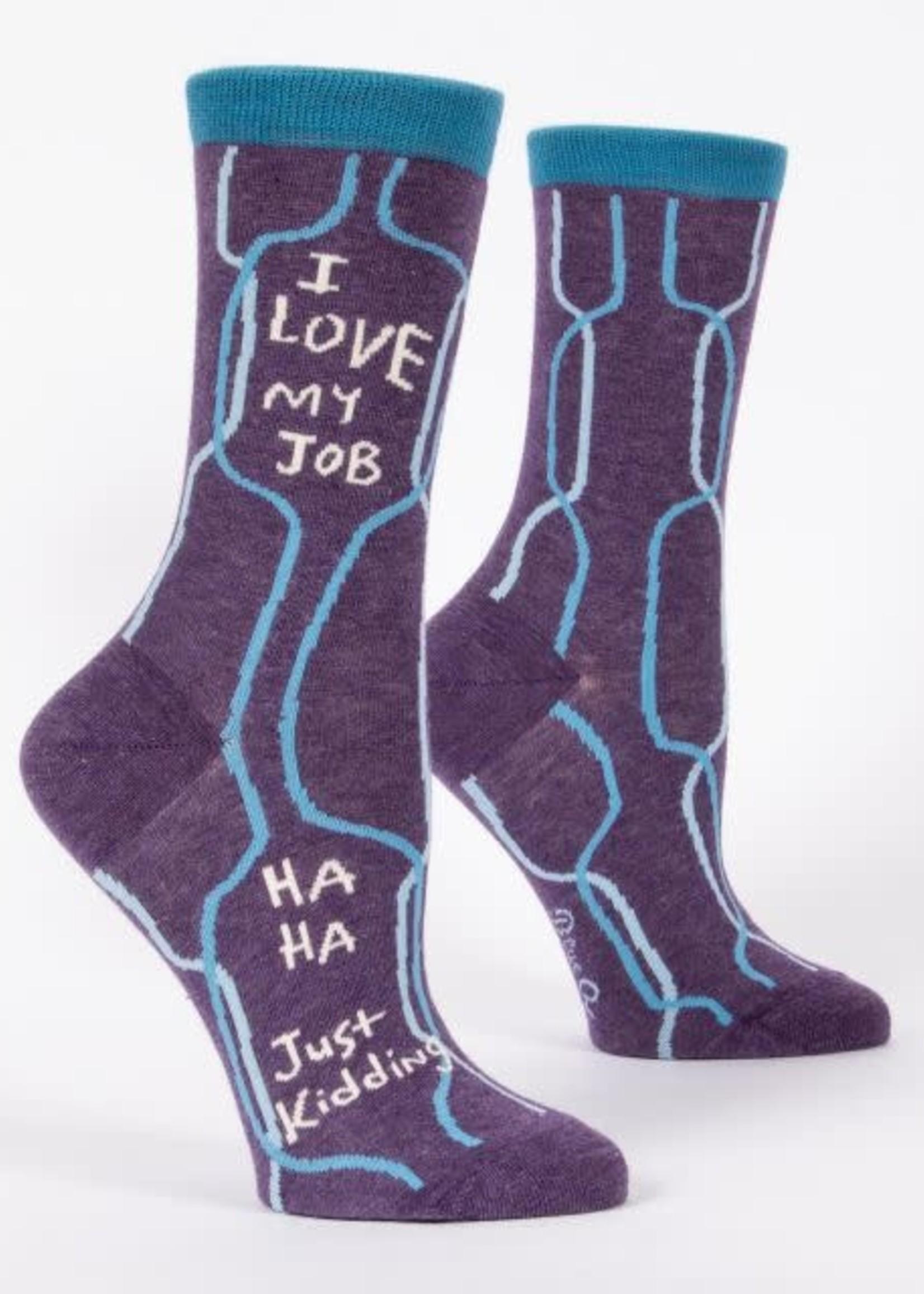 BLUE Q BLUE Q I LOVE MY JOB WOMEN SOCKS