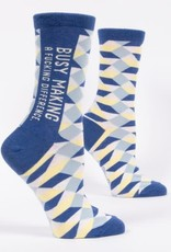 Blue Q BUSY MAKING A FUCKING DIFFERENCE - WOMEN'S SOCKS