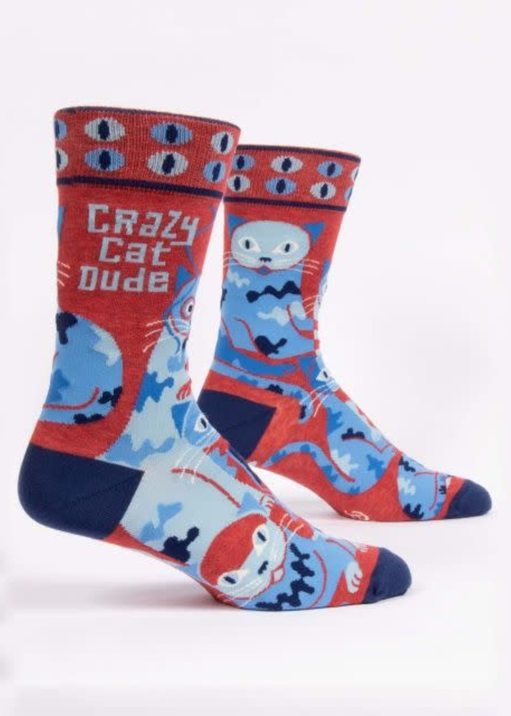 Blue Q BLUE Q CRAZY CAT DUDE MENS SOCKS