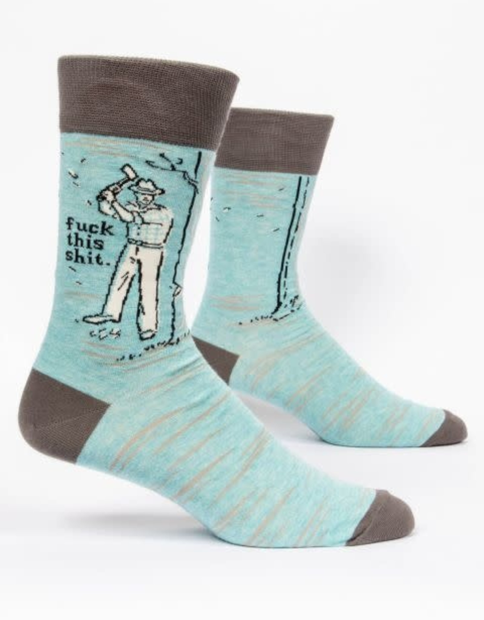 Blue Q BLUE Q FUCK THIS SHIT MENS SOCKS