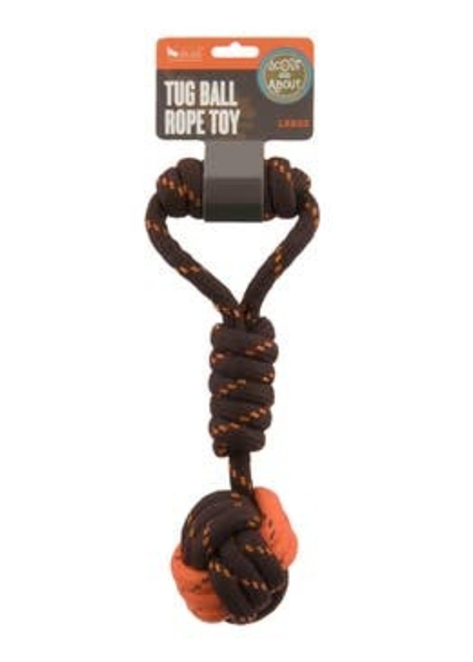PLAY PLAY TUG A BALL ROPE LARGE DOG TOY
