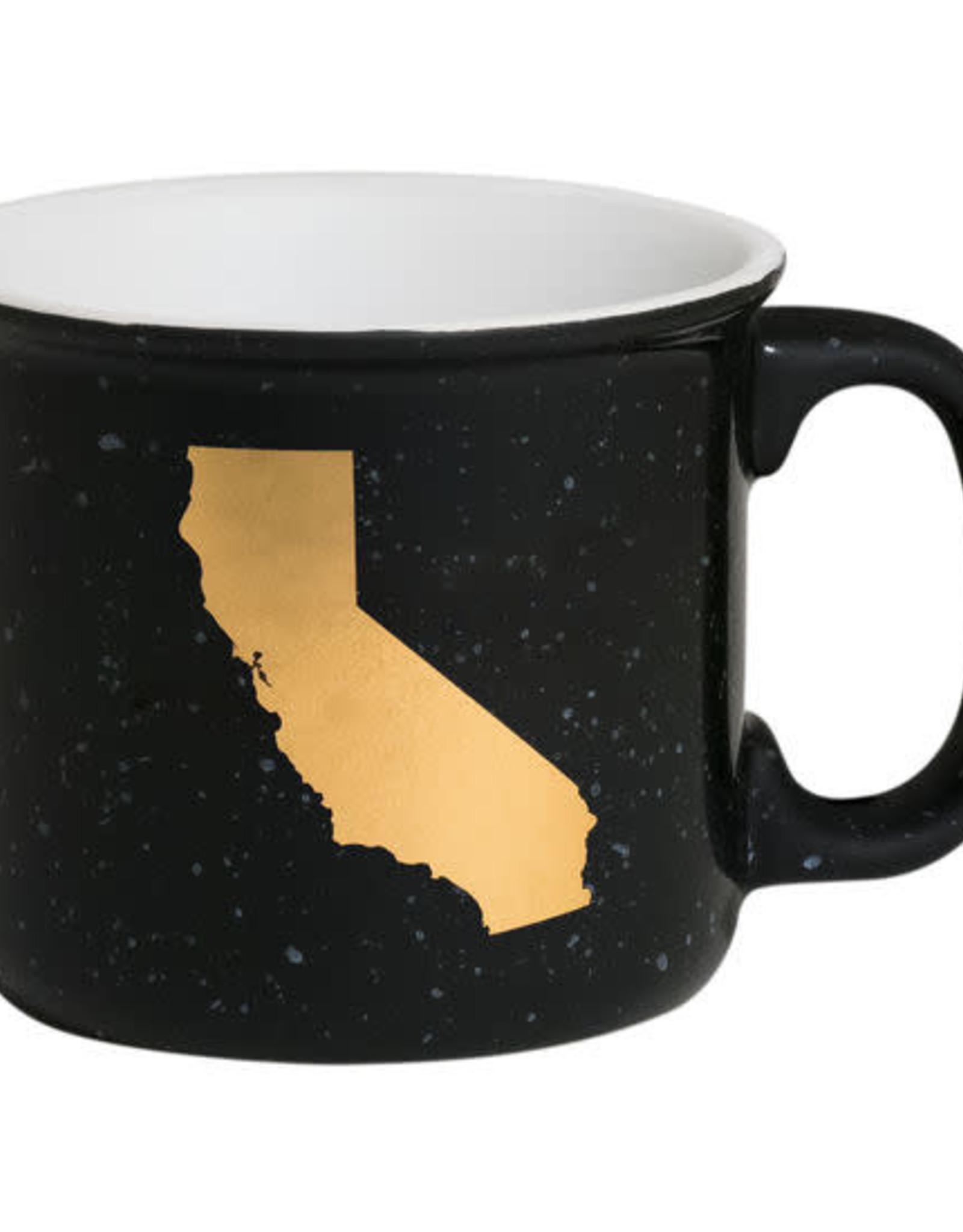 ABOUT FACE ABOUT FACE CALIFORNIA CERAMIC CAMP MUG
