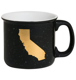 ABOUT FACE ABOUT FACE CALIFORNIA CERAMIC CAMP MUG