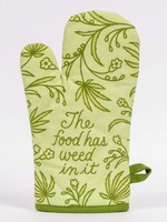 Blue Q BLUE Q THE FOOD HAS WEED IN IT OVEN MITT