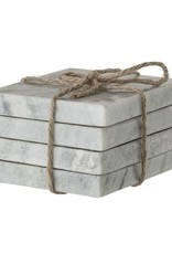 BLOOMINGVILLE BLOOMINGVILLE GREY MARBLE COASTER SET
