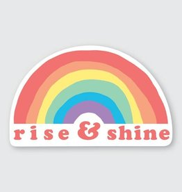 PIKE STREET PRESS RISE AND SHINE RAINBOW STICKER
