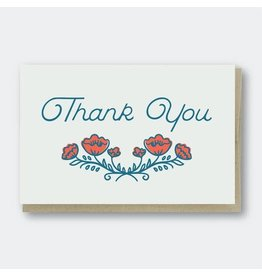 PIKE STREET PRESS THANK YOU POPPIES CARD