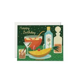 RED CAP CARDS BOOZY BIRTHDAY FOIL CARD