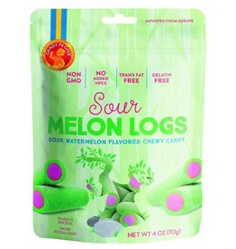 CANDY PEOPLE SWEDISH SOUR MELON LOGS GUMMY CANDY