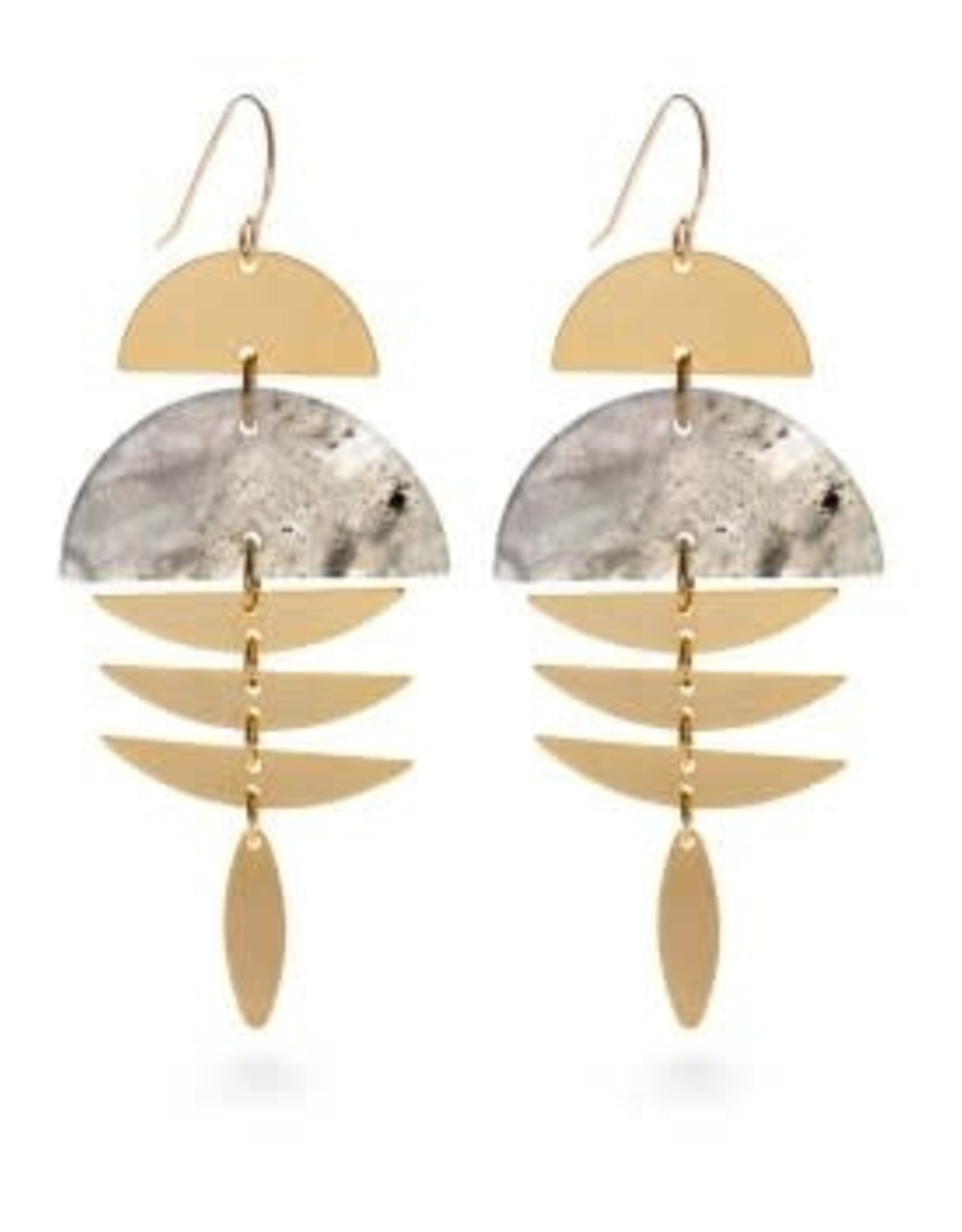 AMANO TRADING INC AMANO PISCES EARRINGS IN LABRODITE