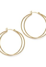 AMANO TRADING INC AMANO ECLIPSE DOUBLE HOOPS IN GOLD