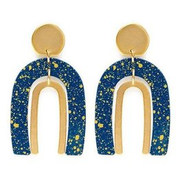 AMANO TRADING INC AMANO ARCHES STARRY NIGHT EARRINGS