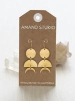 AMANO TRADING INC AMANO CELESTIAL GEO EARRINGS BRASS