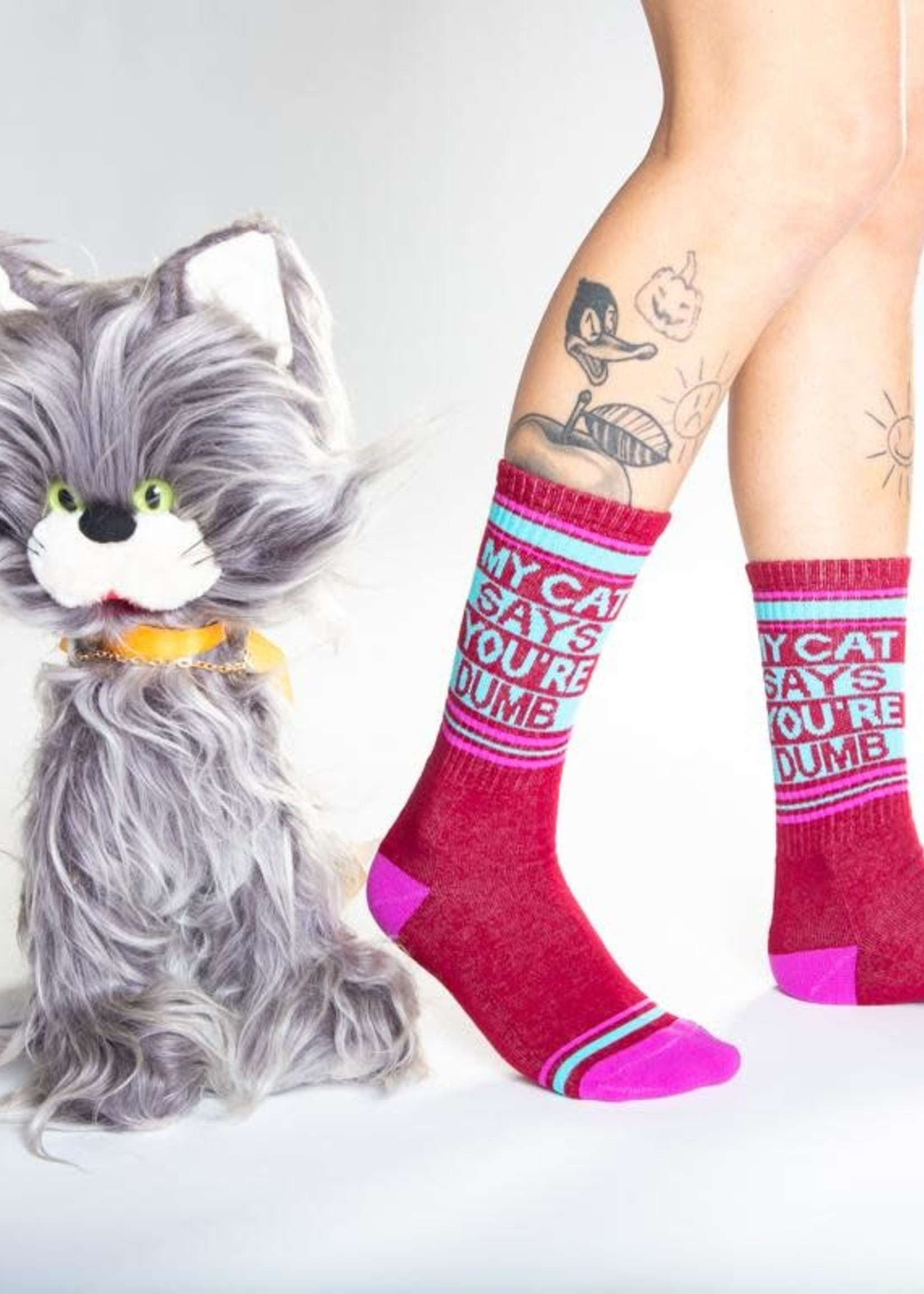 GUMBALL POODLE GUMBALL POODLE MY CAT SAYS YOU'RE DUMB SOCKS