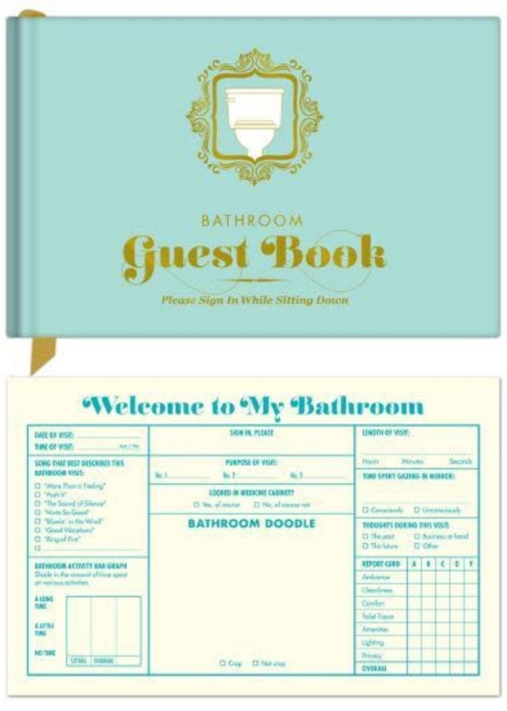 KNOCK KNOCK KNOCK KNOCK BATHROOM GUEST BOOK