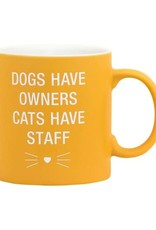 ABOUT FACE ABOUT FACE CATS HAVE STAFF MUG