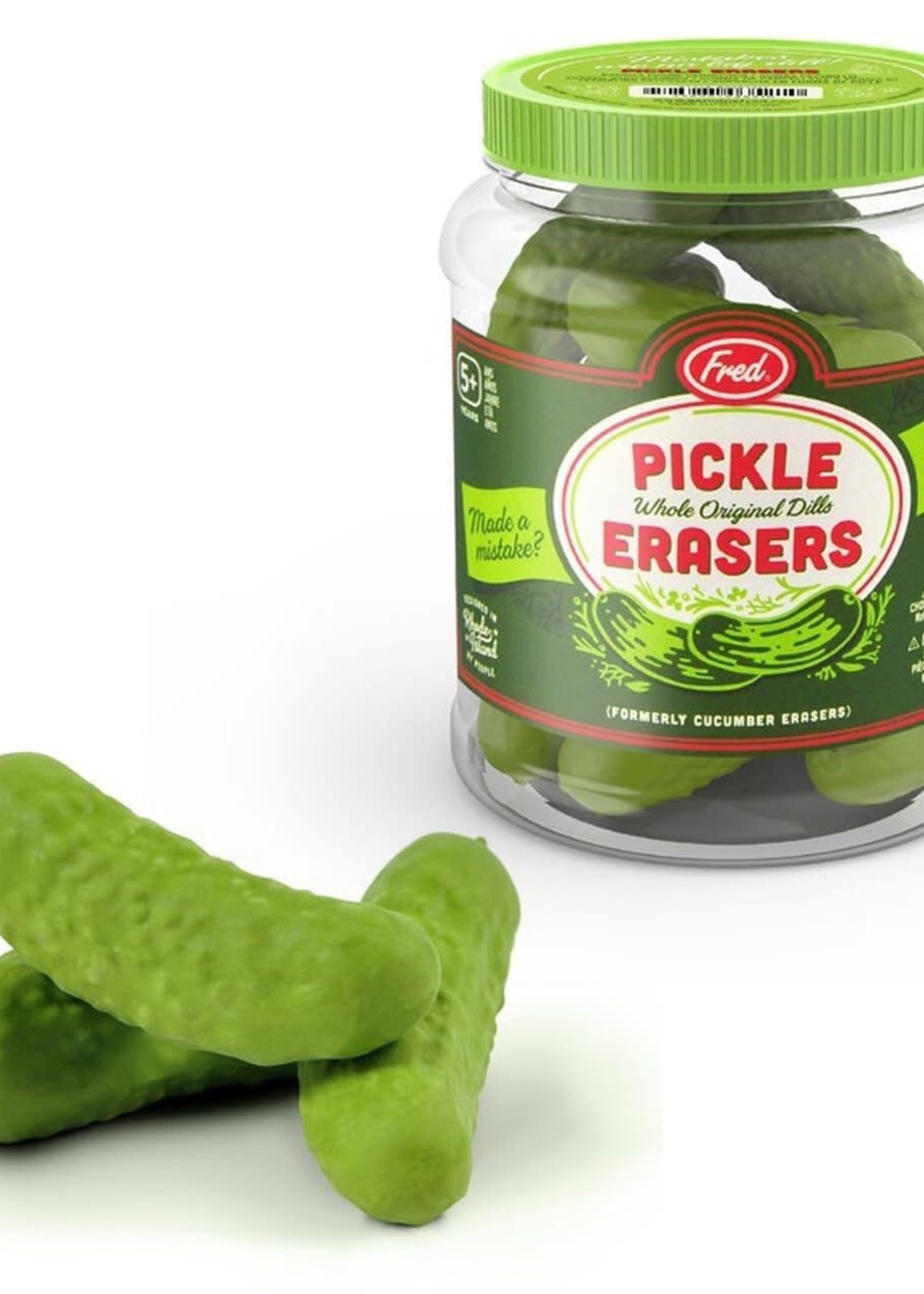 Fred & Friends FRED PICKLE ERASERS
