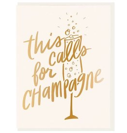 DAHLIA PRESS THIS CALLS FOR CHAMPAGNE CARD