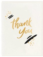 DAHLIA PRESS THANK YOU PAINT - FOIL CARD