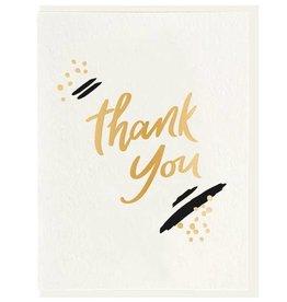 DAHLIA PRESS THANK YOU PAINT - FOIL CARD