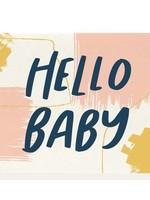 DAHLIA PRESS HELLO BABY CARD - DAHLIA PRESS