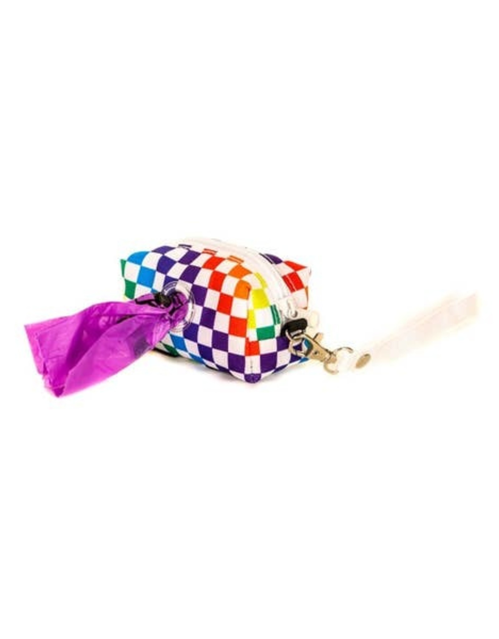 FYDELITY INDY RAINBOW CHECKERED DOGGIE POOPYCUTE BAG