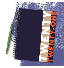 TF PUBLISHING BLACK PLANNER WITH STICKERS