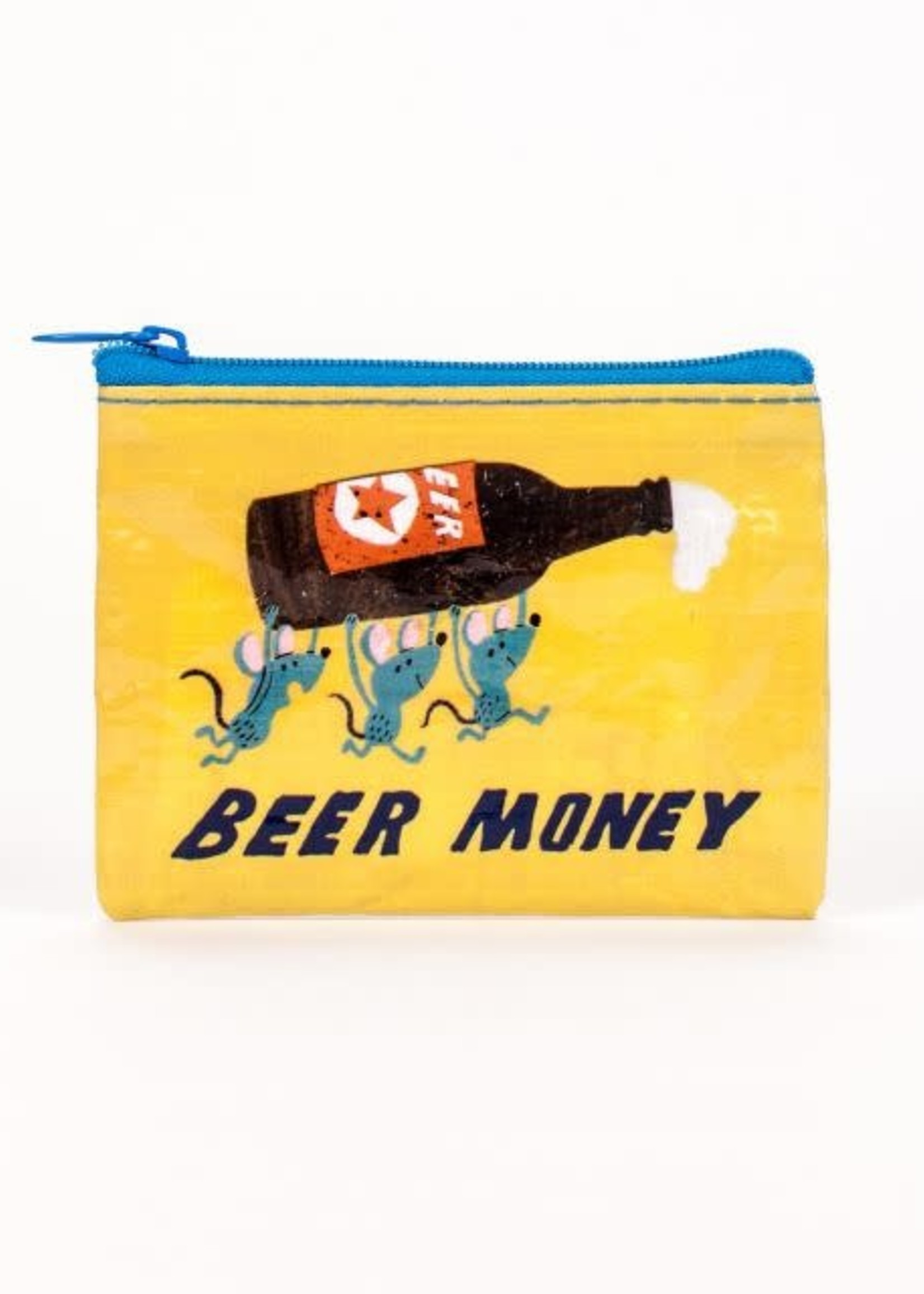 Blue Q BLUE Q COIN PURSE BEER MONEY