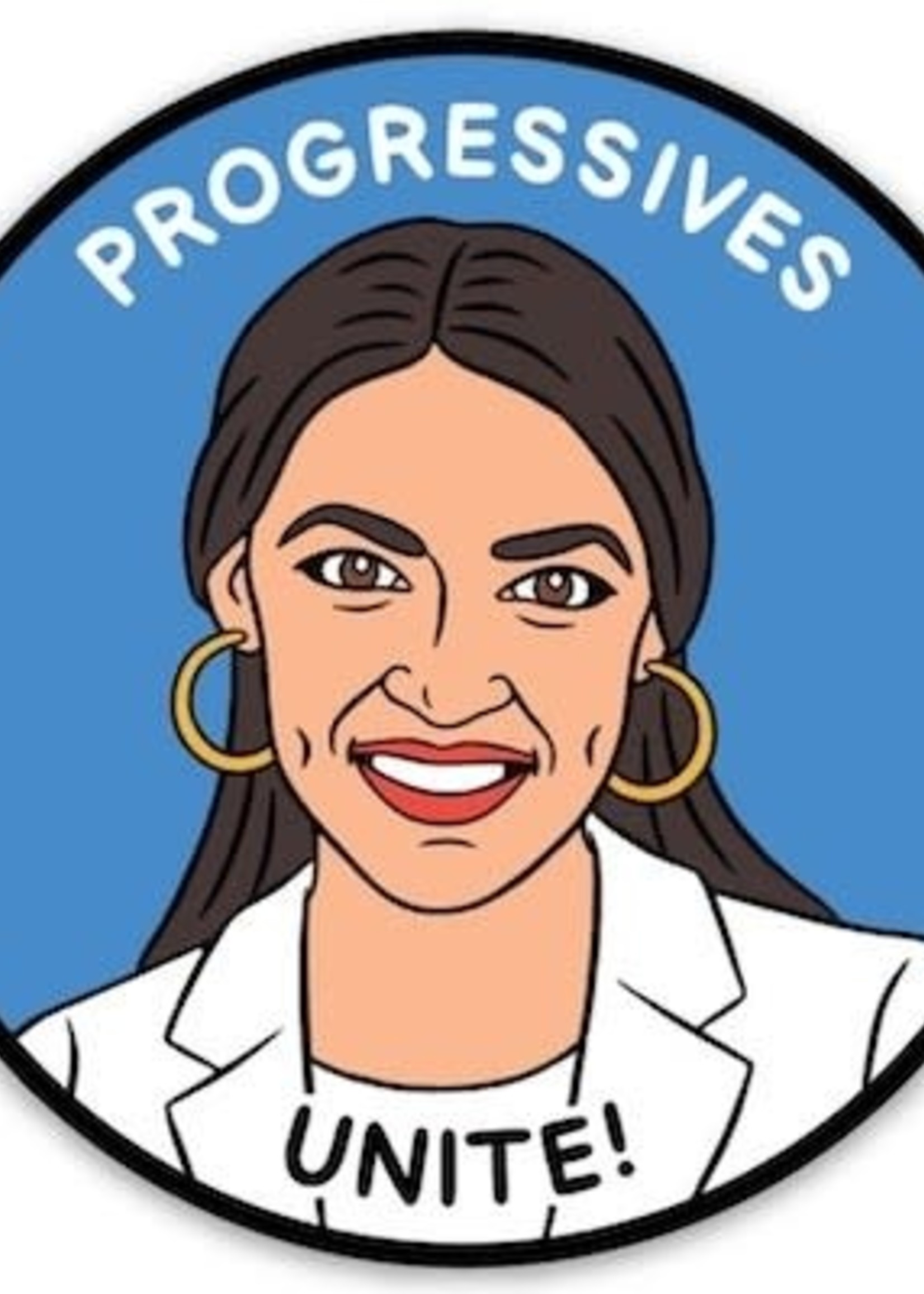 THE FOUND THE FOUND POLITICAL STICKERS  AOC