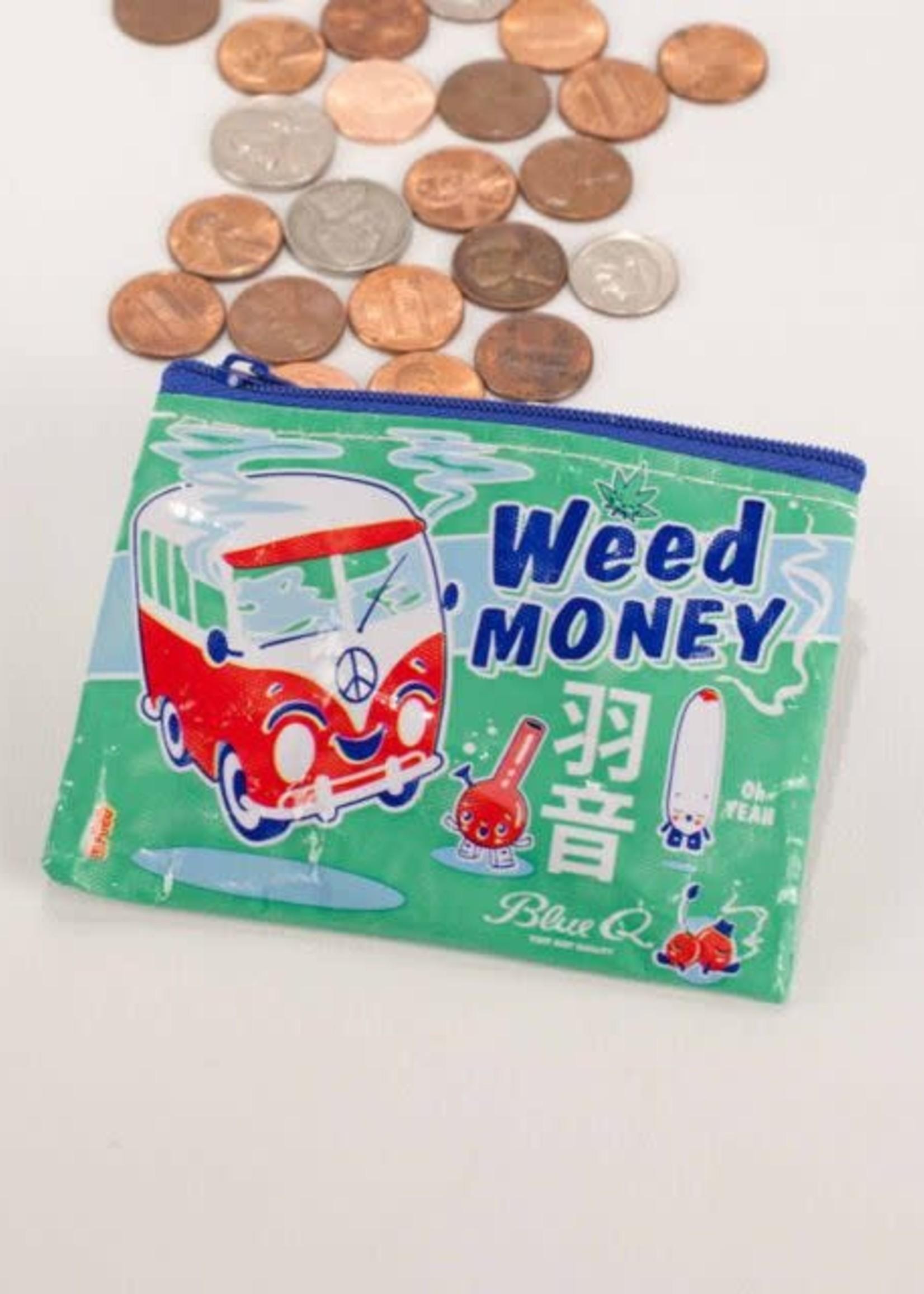 Blue Q BLUE Q COIN PURSE WEED MONEY