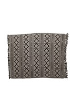 BLOOMINGVILLE BLOOMINGVILLE GREY AND CHARCOAL DIAMOND THROW